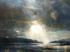 Zarina Stewart-Clark is a Scottish landscape artist whose paintings depict landscapes around the West Coast of Scotland and Suffolk. Contemporary Landscape, Abstract Landscape, Landscape Paintings, Abstract Art, Landscape Prints, Dark Skies, Canvas Art, Illustration Art, Rain