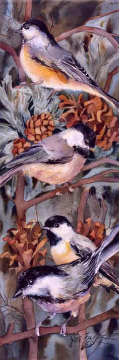 """""""Chickadees in Winter"""" by Jan Ford"""