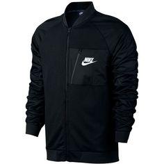 Nike Men's Advance 15 Fleece Bomber Jacket ($80) ❤ liked on Polyvore featuring men's fashion, men's clothing, men's outerwear, men's jackets, black, mens flight jacket, mens bomber jacket, nike mens jackets and mens blouson jacket