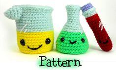 Laboratory Set Crochet Amigurumi by CraftyTibbles