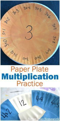 Have fun practicing your multiplication facts with this simple DIY Paper Plate Multiplication Practice Activity. They're easy to make and fun to pick up time and time again for math facts practice. Math Fact Practice, Multiplication Activities, Math Activities, Division Activities, Multiplication And Division, Math Help, Math Fractions, Math For Kids, Fun Math