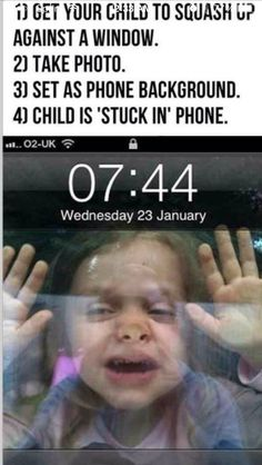 Kid stuck in phone