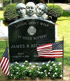 3 stooges on this headstone