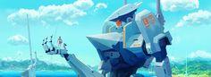 Ganymede Defense Force, Joakim Duell on ArtStation at https://www.artstation.com/artwork/ganymede-defense-force