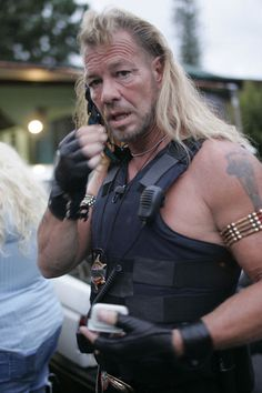 Dog The Bounty Hunter.  I can't help myself- I like him. It's my guilty pleasure.