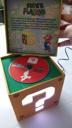 Embalagem - Luminária Super Mario Bros / cubo / box / abajur
