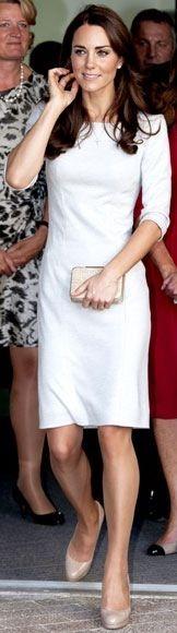 Kate Middleton, in white
