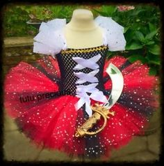Pirate Inspired tutu dress - dressing up costume in Clothes, Shoes & Accessories, Fancy Dress & Period Costume, Fancy Dress Dress Up Costumes, Baby Costumes, Running Costumes, Little Princess, Pirate Tutu, Pirate Party, Cinderella Tutu, Christmas Tutu Dress, Tulle Crafts