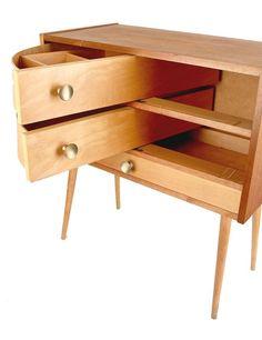 1950s sewing box table storage 60s 70s mid century modern teak danish vintage
