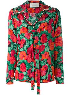 db741d51 GUCCI Floral Print Shirt. #gucci #cloth #shirt Gucci Floral, Floral Print