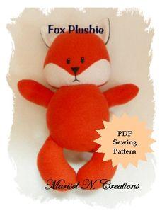 Fox Plushie PDF Sewing Pattern - Softie, Plushie, Stuffed Animal Toy Pattern - Instant Download, DIY