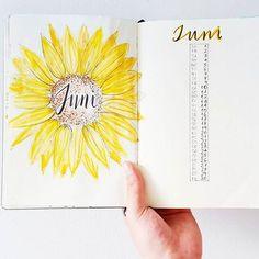 Planner / Diary - lettering June