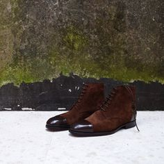 http://chicerman.com  zonkeyboot:  For autumn: Zonkey Boot hand welted derby boots in hand stained Bavarian Calf colour Ristretto and Polo Brown hunting suede. More info at http://ift.tt/1rC8TdB  #menshoes