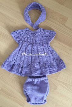 Baby Knitting Patterns, Baby Patterns, Crochet Patterns, Little Girl Dresses, Flower Girl Dresses, Crochet Baby, Knit Crochet, Diy Crafts Knitting, Knit Baby Dress