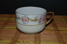 Demitasse PMR Bavaria Germany Floral Porcelain With Gold handle