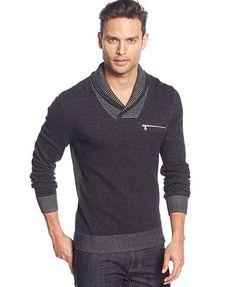 INC International Concepts Nick Shawl Collar Sweater