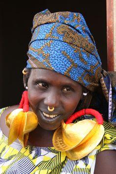 Africa | Portrait of a Fulani woman.  Djenné, Mopti, Mali. | © Raphael Bick