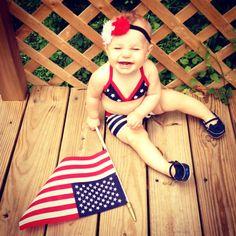 Merica baby #4th #july #cute #baby
