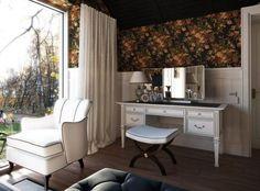 Modern sitting room vanity. Decoist.