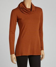 Love this Spice Stripe Cowl Neck Top - Women by Blue Canoe on #zulily! #zulilyfinds