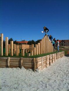 PAM - speelstammen - Fredericia C - Temporary park by SLA