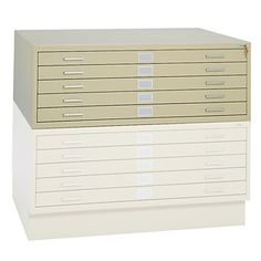 "Safco® 5-Drawer Flat File, 53 3/8""W x 41 3/8""D External, 50""W x 38""D Internal"