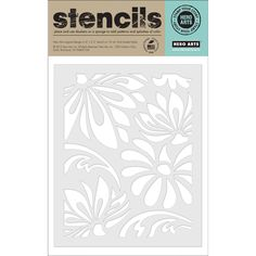 Hero Arts Stencils-Large Lotus Pattern, , hi-res