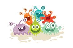 Set of cartoon monsters. Character with big eyes. Vector funny illustration in flat Funny Illustration, Graphic Illustration, Cartoon Monsters, Dental Hygienist, Big Eyes, Teeth, Hello Kitty, Mario, Doodles