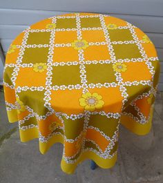 1960s tablecloth