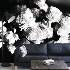 Bouquet of White Peonies Mural anew all.com