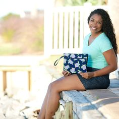 Sometimes the right clutch is all that it takes to pull an outfit together! Whether you are planning a night out with your favorite bridesmaids or getting ready together the morning of your big day, this zippered bag is the perfect size to hold everything you need. Monogram Clutch, Monogram Tote Bags, Turtle Pattern, Turtle Bay, Personalized Bridesmaid Gifts, Wet Bag, Custom Bags, Clutch Bag, Purse