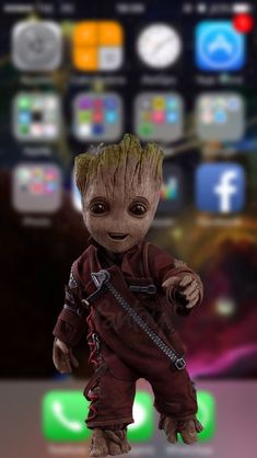 Baby Groot Wallpaper by - dc - Free on ZEDGE™ now. Browse millions of popular baby groot Wallpapers and Ringtones on Zedge and personalize your phone to suit you. Browse our content now and free your phone Simpson Wallpaper Iphone, Funny Iphone Wallpaper, Disney Phone Wallpaper, Apple Wallpaper, Iphone Wallpaper Glitter, Deadpool Wallpaper, Avengers Wallpaper, Baby Groot, Groot Toy