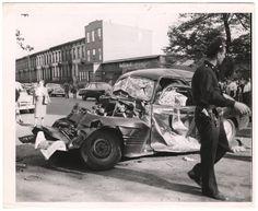 Weegee, [Car crash], 1940s