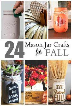 Get ready for fall with these 24 mason jar crafts for kids {and grownups!}.