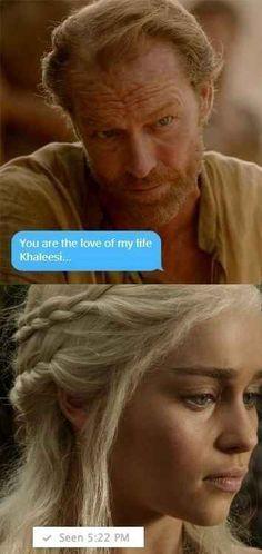 Ser Jorah's THIRST.