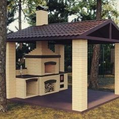 58 outdoor kitchen designs that look neat and comfortable for outdoor cooking 29 - kinal. Rustic Outdoor Kitchens, Outdoor Kitchen Patio, Outdoor Kitchen Design, Outdoor Dining, Outdoor Decor, Outdoor Oven, Pergola Patio, Pergola Plans, Backyard Patio