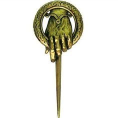 Free shipping!  High Quality HOT Sale Wholesale Gold NEW Metal HBO GAME OF THRONES Hand of the King Brooch Pin
