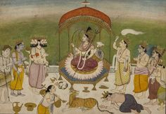 Shri Devi illustration of the Markandeya Purana