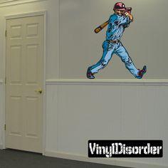 Baseball Wall Decal - Vinyl Sticker - Car Sticker - Die Cut Sticker - CDScolor173