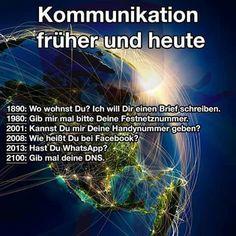 Kommunikation früher und heute