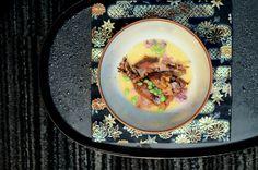 Hot Egg Custard with Hotaru Squid Chef Seiji Yamamoto of RyuGin - Tokyo, Japan Tokyo Japan, Yamamoto, Custard, Chefs, Egg, Drink, Cooking, Food, Eggs