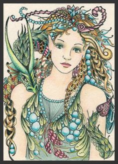 Here's my latest ACEO's - Mermaid & Sea-dragon and Mermaid Dreams. Both are 2.5 x 3.5 inches and are drawn on Stonehenge paper with Micron P...