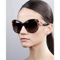 Roberto Cavalli Pebble-Textured Cat-Eye Sunglasses - Polyvore,$11.99  #wholesaledesignerhub.com