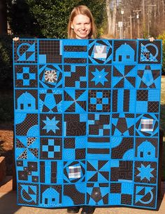 building blocks quilt | quilt as you go; I love this so, that I purchased the lessons today! Love the quilting, done on a home sewing machine!