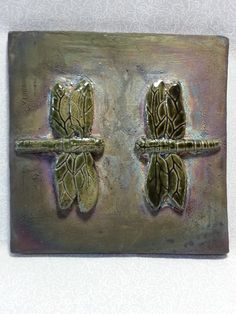 "Samuel Turner - ""Dragonflies"" Ceramic - Raku"
