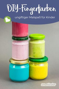 Make natural finger paints for children inexpensively themselves - Kinderspiele Ideen Easy Christmas Ornaments, Christmas Tree Crafts, Handmade Ornaments, Christmas Fun, Holiday Crafts For Kids, Easy Crafts For Kids, Diy For Kids, Make Natural, Fun Craft