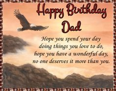 Love your dad? Free online Eagle Birthday Wishes For Dad ecards on Birthday Happy Birthday Penguin, Happy Birthday Ecard, Birthday Hug, Cute Happy Birthday, Dad Birthday Card, Birthday Wishes Funny, Birthday Songs, Happy Birthday Greetings, Birthday Sparklers