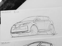 Alfa Romeo SUV Concept Sketch by Jun Kim