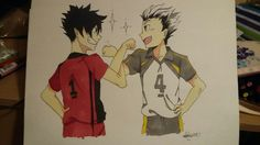 Kuroo and Bokuto - Haikyuu Fanart ^-^