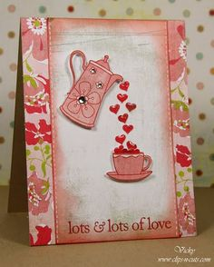 cute, filled with love, use teapot instead of coffeepot?